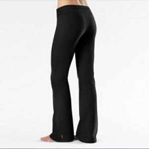 Lucy tech black boot cut yoga workout pants flare